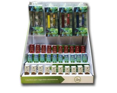 Expositor para cigarrillos electronicos